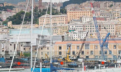 Der Hafen von Genua